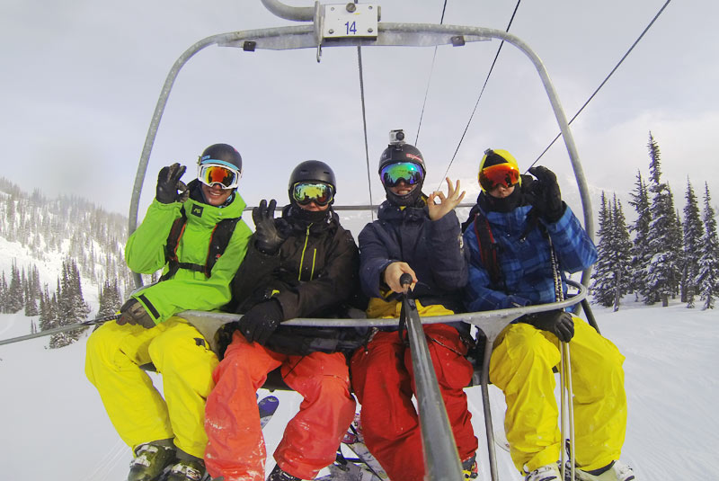 Ski-Lift-selfie