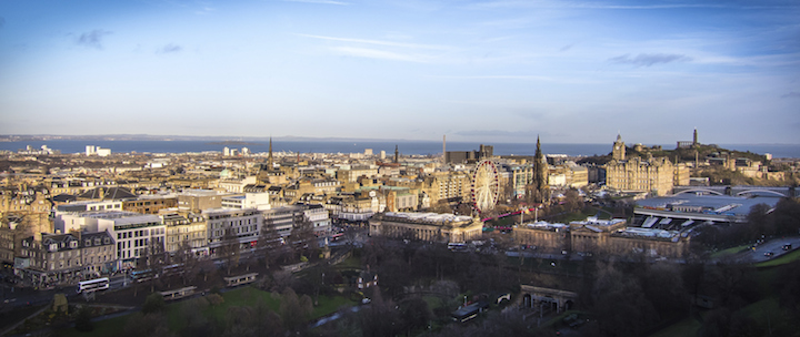 View of Edinburgh Skyline from the Castle