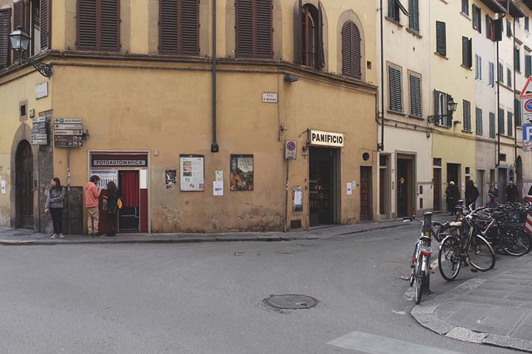 Charmante Strasse in Florenz