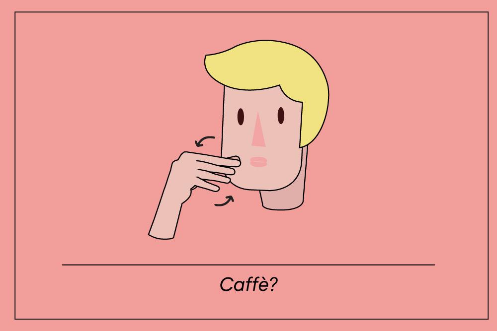 Caffe Italian hand gesture
